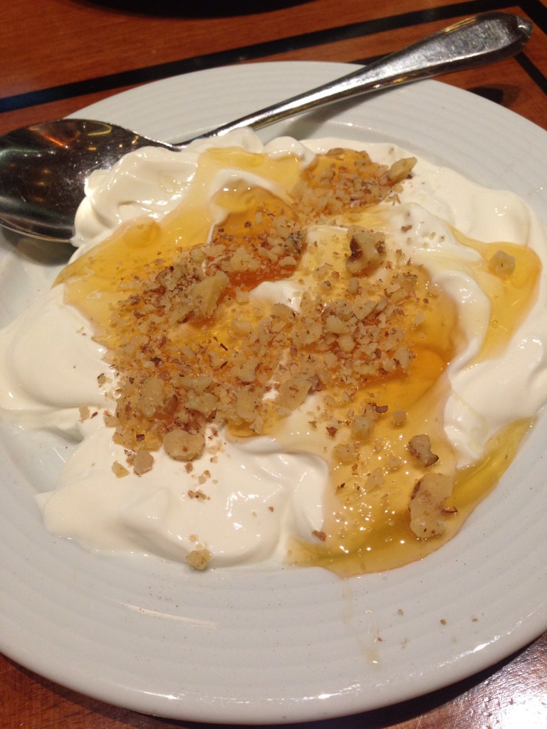 (Greek) Yogurt, Honey, and Walnuts for dessert
