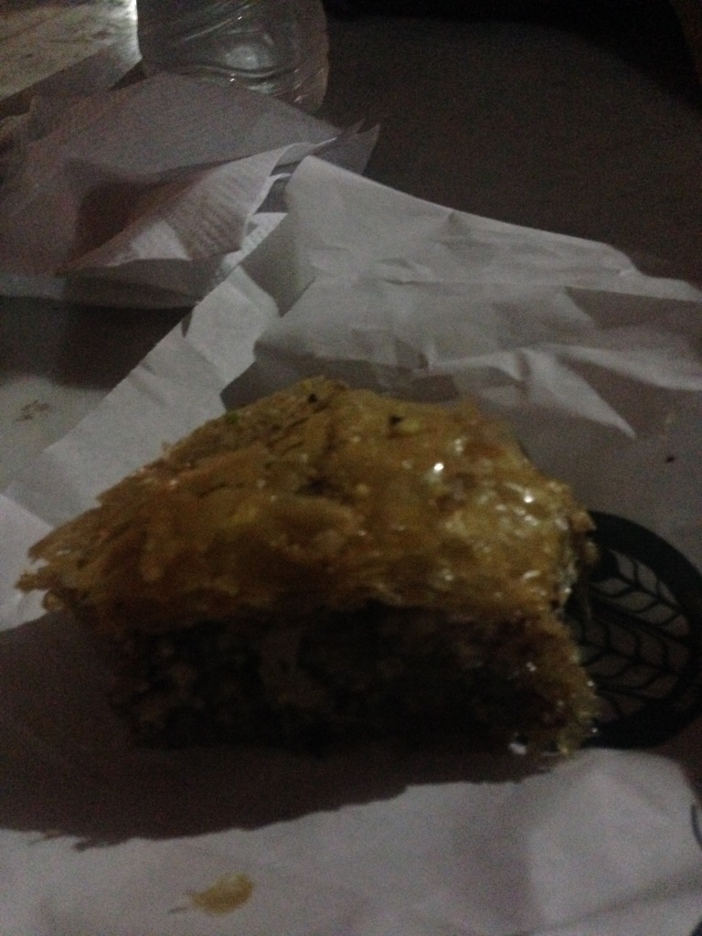 Birthday baklava... the worst picture but so good !