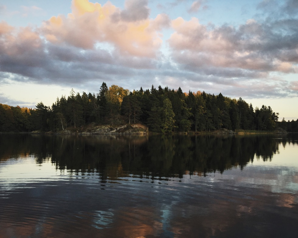 An island in Albysjön, the lake we stayed on